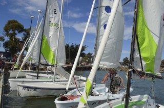 Some Points about Launching Dinghies on a Crowded Dock
